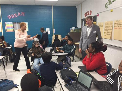N.C. Teacher of the Year Visits Vance County