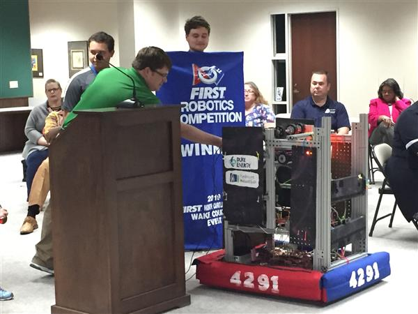Vance Robotics Team A Winning Combination
